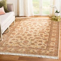 Handmade Safavieh Couture Royal Kerman Ivory/ Gold Wool Area Rug - 6' x 9' (China, People's Republic of)