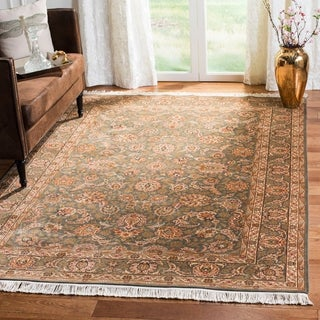 Asian Hand-knotted Royal Kerman Grey Wool Rug (4' x 6')