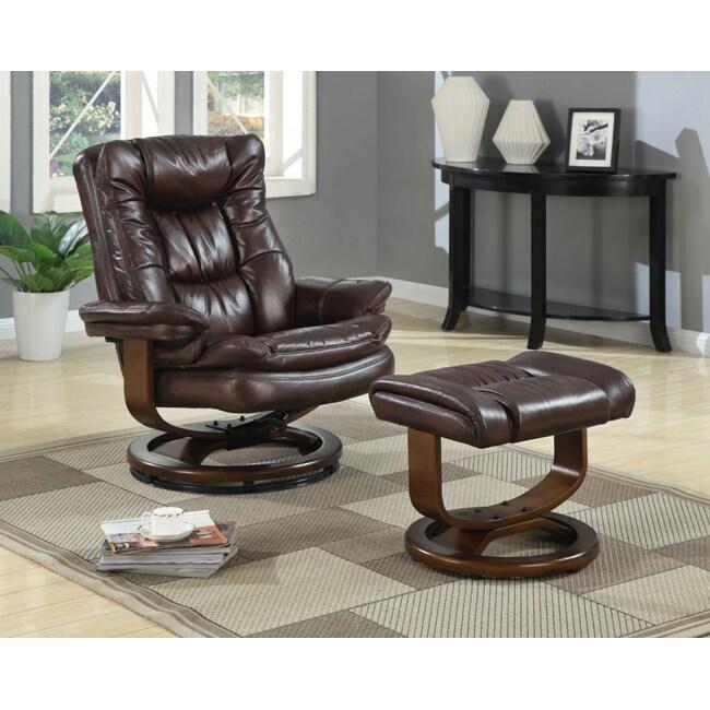 At Home Designs Scandia European Mocha Chair/Ottoman