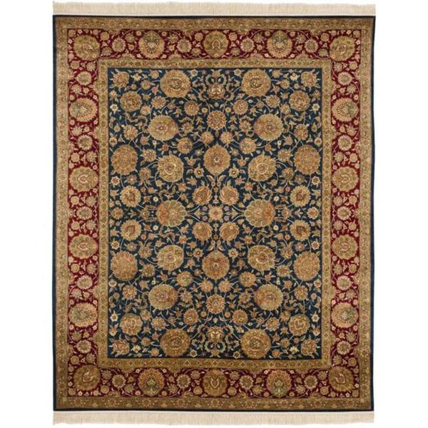 Safavieh Couture Royal Kerman Hand-Knotted Blue/ Red Wool Area Rug - 9' x 12'