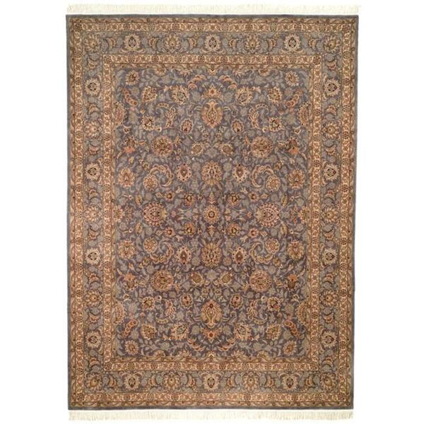 Safavieh Couture Royal Kerman Hand-Knotted Lilac Purple/ Taupe Wool Area Rug (9' x 12')