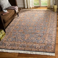 Safavieh Couture Royal Kerman Hand-Knotted Lilac Purple/ Taupe Wool Area Rug - 9' x 12'