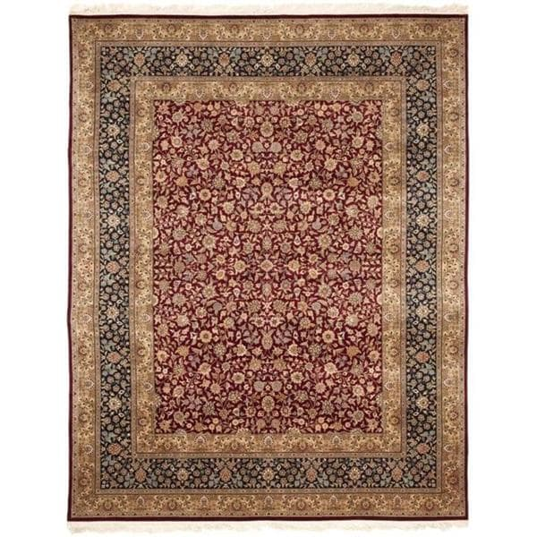Handmade Safavieh Couture Royal Kerman Red/ Blue Wool Area Rug - 8' x 10' (China)