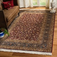Safavieh Couture Royal Kerman Hand-Knotted Red/ Blue Wool Area Rug - 8' x 10'