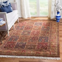 Handmade Safavieh Couture Royal Kerman Multi/ Tan Wool Area Rug - 6' x 9' (China, People's Republic of)