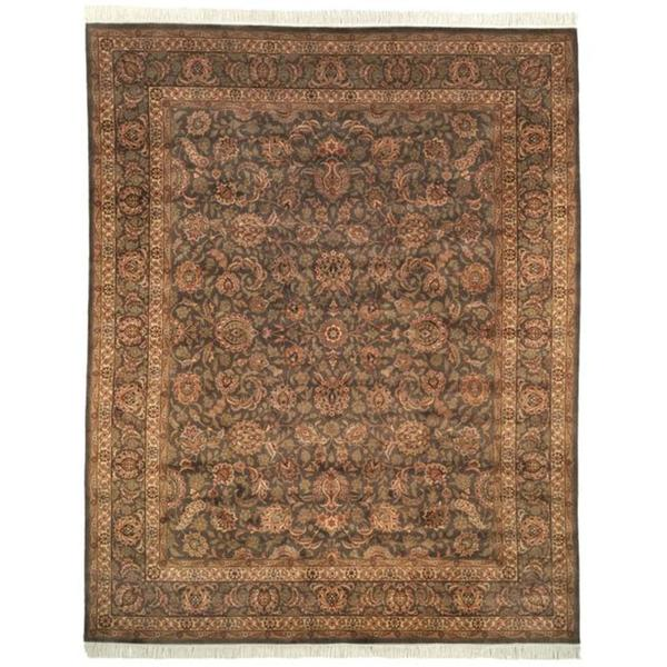 Safavieh Couture Royal Kerman Hand-Knotted Grey/ Green Wool Area Rug (9' x 12')