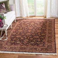 Safavieh Couture Royal Kerman Hand-Knotted Purple/ Brown Wool Area Rug (6' x 9')