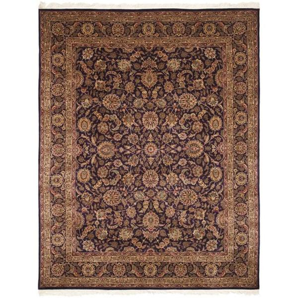 Safavieh Couture Royal Kerman Hand-Knotted Purple/ Brown Wool Area Rug (9' x 12')