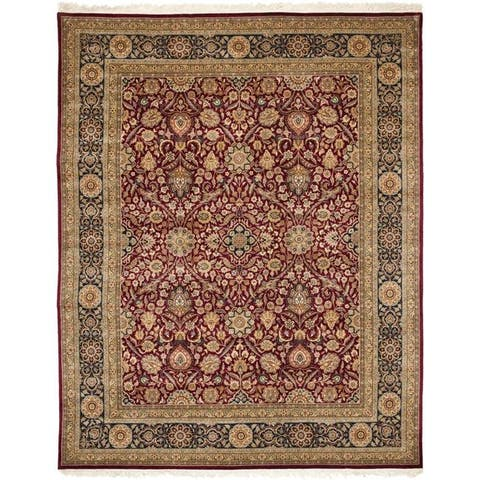 Safavieh Traditional Asian Hand-Knotted Royal Kerman Wool Rug