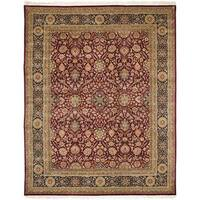 Handmade Safavieh Couture Royal Kerman Red/ Blue Wool Area Rug - 6' x 9' (China)