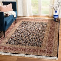 Safavieh Couture Royal Kerman Hand-Knotted Blue/ Red Wool Area Rug (8' x 10')