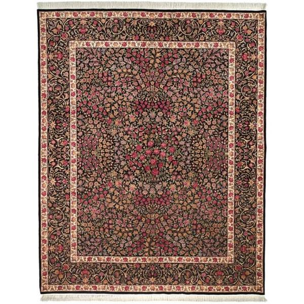 Safavieh Couture Royal Kerman Hand-Knotted Black Wool Area Rug - 8' x 10'