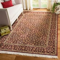 Handmade Safavieh Couture Royal Kerman Red/ Burgundy Wool Area Rug - 8' x 10' (China)