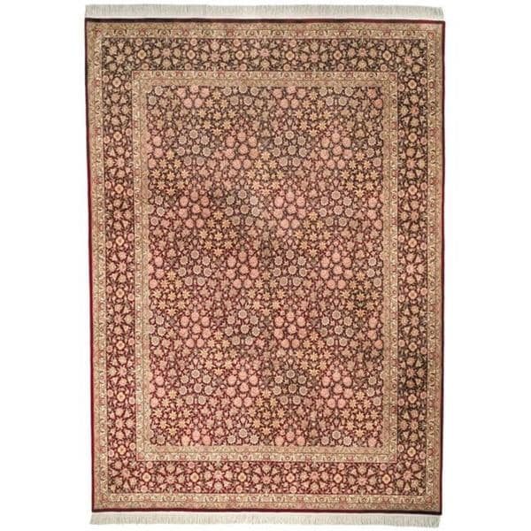 Safavieh Couture Royal Kerman Hand-Knotted Red/ Burgundy Wool Area Rug - 9' x 12'
