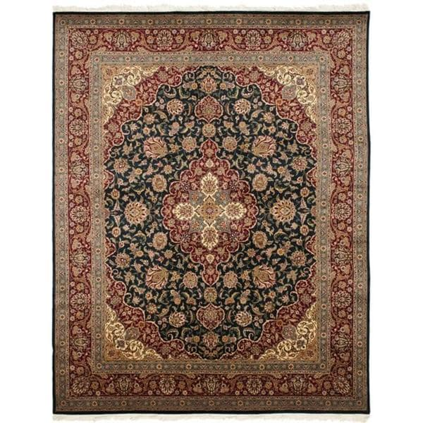 Safavieh Couture Royal Kerman Hand-Knotted Navy/ Red Wool Area Rug (8' x 10')