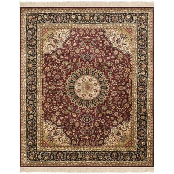 Safavieh Couture Royal Kerman Hand-Knotted Red/ Black Wool Area Rug (8' x 10')