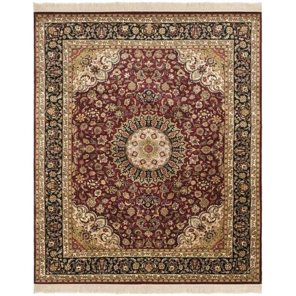 Safavieh Couture Royal Kerman Hand-Knotted Red/ Black Wool Area Rug - 8' x 10'
