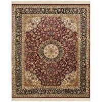 Safavieh Couture Royal Kerman Hand-Knotted Red/ Black Wool Area Rug (9' x 12')