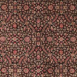 Asian Hand-knotted Royal Kerman Black and Red Wool Rug (8' x 10') - Thumbnail 2