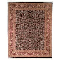 Handmade Safavieh Couture Royal Kerman Black/ Red Wool Area Rug - 8' x 10' (China)