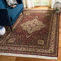 Handmade Safavieh Couture Royal Kerman Red/ Ivory Wool Area Rug - 6' x 9' (China)