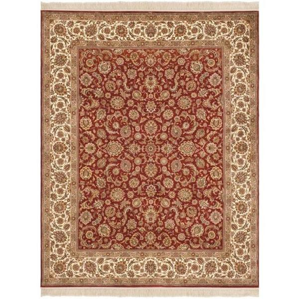 Safavieh Couture Royal Kerman Hand-Knotted Rust/ Ivory Wool Area Rug (8' x 10')