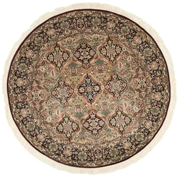 Safavieh Couture Royal Kerman Hand-Knotted Multicolor Wool Area Rug (6' Round)