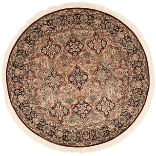 Handmade Safavieh Couture Royal Kerman Multicolor Wool Area Rug - 6' Round (China, People's Republic of)