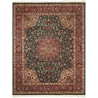 Safavieh Couture Royal Kerman Hand-Knotted Green/ Red Wool Area Rug (8' x 10')