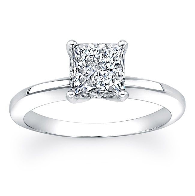 14k Gold 1 1/2ct TDW Clarity-Enhanced Certified Diamond Solitaire Ring (GH, SI2-SI3)