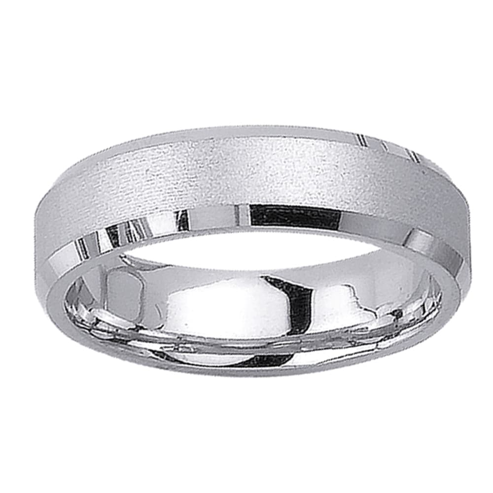 14k white gold men 39 s satin wedding band free shipping