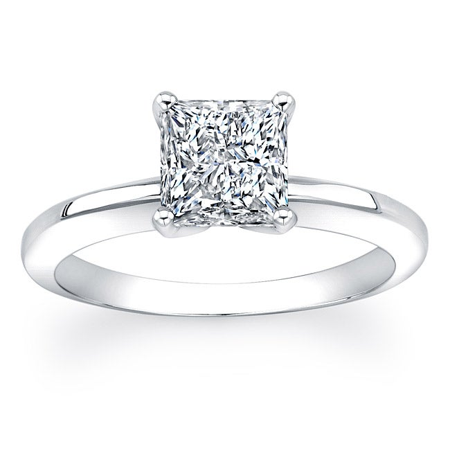 14k Gold 2ct TDW Certified Princess Cut Clarity Enhanced Diamond Ring (GH, SI2-SI3)