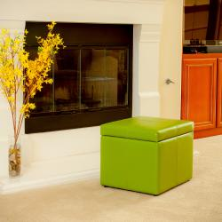 Sensational Square Lime Green Cube Storage Ottoman By Christopher Knight Home Uwap Interior Chair Design Uwaporg
