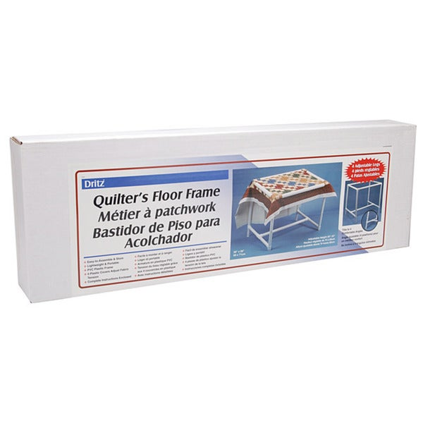 Dritz quilting quilters floor frame free shipping today for Floor quilt frame