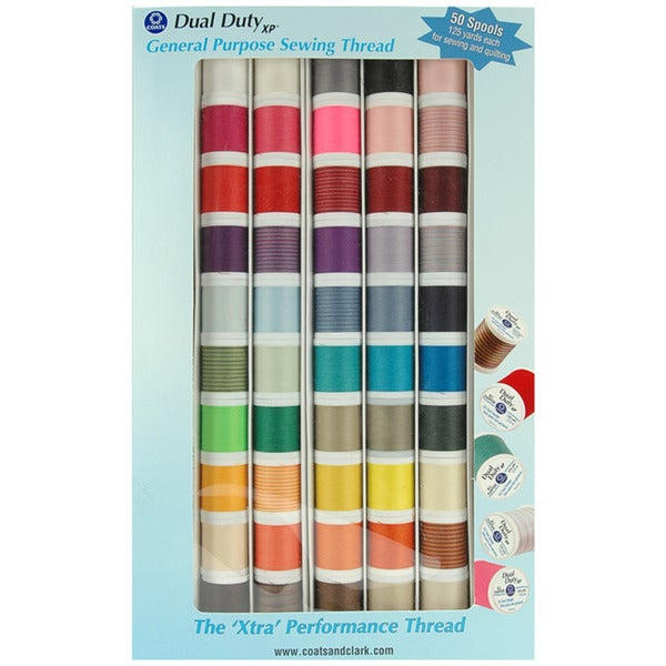 Coat and Clark Dual Duty XP Gene Assorted Thread (Pack of 50)