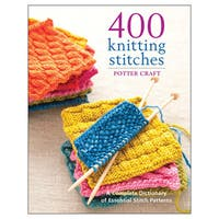 Potter Craft Books '400 Knitting Stitches' Knitting Book