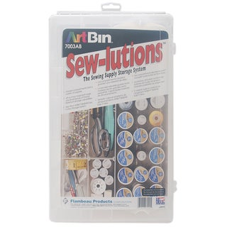 ArtBin Sew-lutions Sewing and Thread Plastic Box with Removable Tray