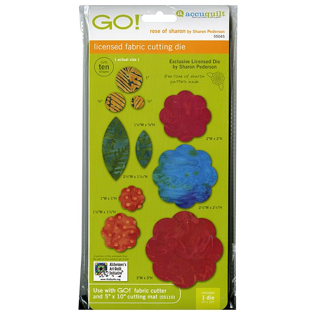 Accuquilt GO! Plastic Tumbler Fabric Rose of Sharon Cutting Die