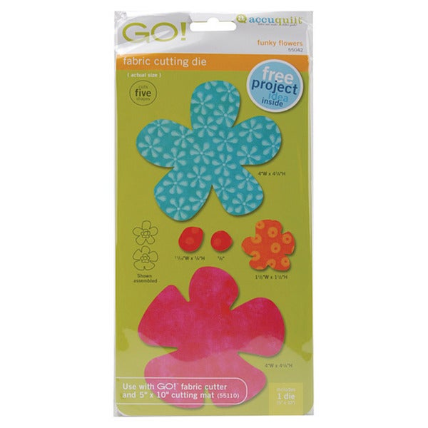 Accuquilt GO! Five Funky Flower Quilting Fabric Cutting Dies