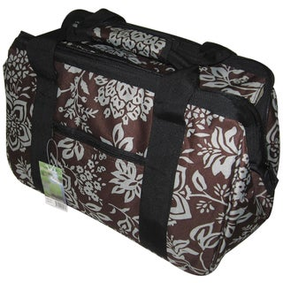 JanetBasket Contemporary Flower-pattern Canvas/Aluminum Eco Bag
