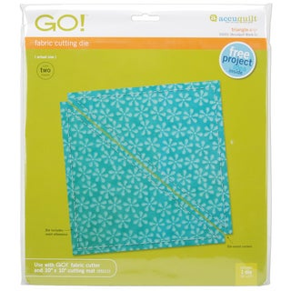Accuquilt GO! Fabric Triangle 6.5-inch Cutting Die