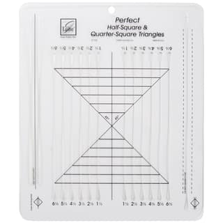 June Tailor Perfect Half-square & Quarter-square Triangles Ruler|https://ak1.ostkcdn.com/images/products/6191798/P13842174.jpg?impolicy=medium