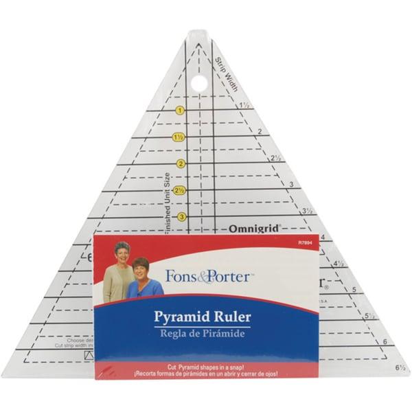 Dritz Fons & Porter Acrylic Pyramid Ruler for Cutting Triangles
