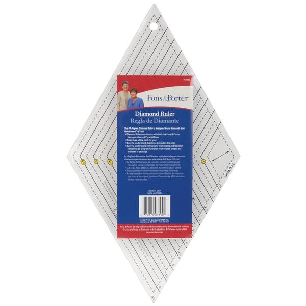 Dritz Fons & Porter Acrylic 60-degree Diamond Ruler/Cutting Tool