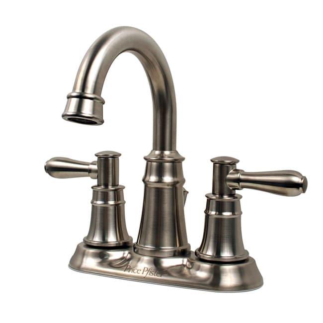 Price Pfister Harbor Brushed Nickel Centerset Bathroom Faucet