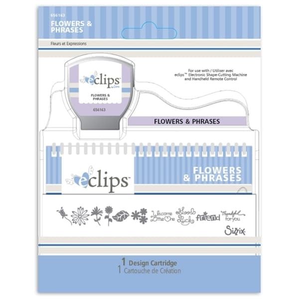 Sizzix Eclips Flowers & Phrases Cartridge
