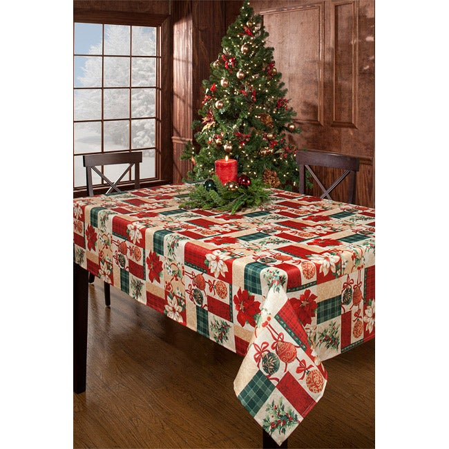 Calico Christmas 60x84-inch Rectangular Tablecloth