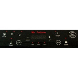 Silver 1300-watt Induction Cooktop - Thumbnail 2