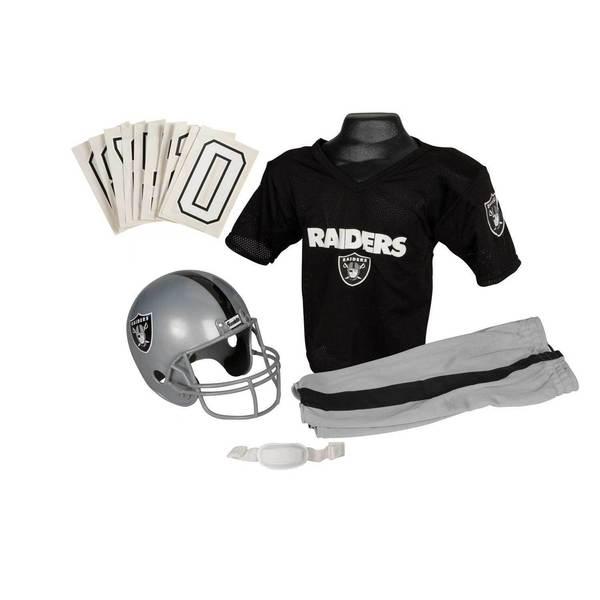 best website ee06d a796b Franklin Sports NFL Oakland Raiders Youth Uniform Set