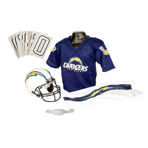 Franklin Sports NFL San Diego Chargers Youth Uniform Set